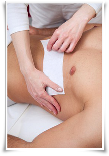 Male Waxing by Female Therapist